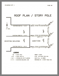 Roof Plan / Story Pole Plan