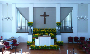 First Presbyterian Church of New Vernon – Sanctuary uplifted