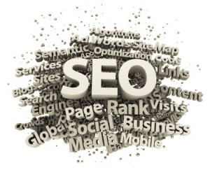 SEO graphic showing associated buzz words